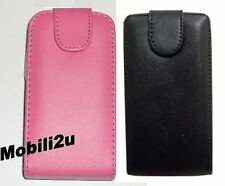 Flip Leather Case Pouch For Samsung MOBILE PHONE Pink Black Magnetic New Cover