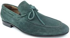 NEX TECH Men's leather shoes suede green genuine leather insole Made in Italy
