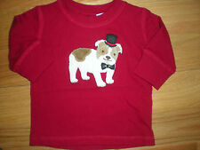 Gymboree NWT Baby Boy Red Top Hat Dog T shirt