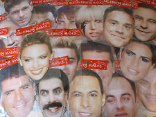 Fun Novelty Famous People Celebrities Celebrity Fancy Dress Cardboard Face Mask