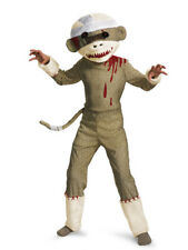Boys Child Deluxe Zombie Sock Monkey Costume Outfit W/ Mask