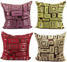 CUSHIONS CUSHION COVERS LARGE SETOF 4 CHENILLE SCATTER CUSHIONS 4 LOVELY COLOURS