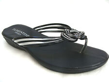 TOE POST NEW LADIES SANDALS SLIP ON SHOES BLACK SHOES WEDGE SHOES   FLORENTINE S