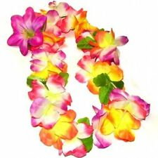 Multi Colour Hawaiian Deluxe Lily Lei Garlands - Choose Quantity From List