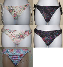 NWT HURLEY swim tie side or hipster white or black floral bikini bottom, XS,M,L