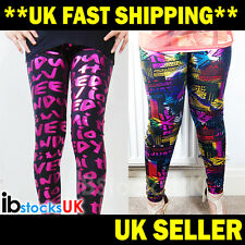 Womens Leggings Girls Ladies Sexy Fashion Patterned Leggings One Size Fits S M L