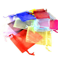 Wholesale Lots 100pcs Simple Color Wedding Silk Jewelry Organza Pouch Gift Bags