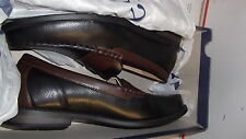 NEW MENS SHOES BLACK & BROWN LEATHER DRESS SLIP ON OXFORD CROFT BARROW ARMSTRONG