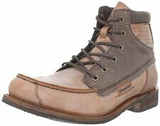 Caterpillar JAMES Mens Work Casual Legendary RAW Collection Brown Leather Boots