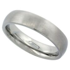 Stainless Steel 5mm Comfort Fit Wedding Band Thumb Ring, Matte Finish, Size 5-12
