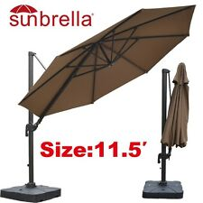 11.5'Cantilever Patio Umbrella  Outdoor Garden Sunshade Market SUNBRELLA Fabric