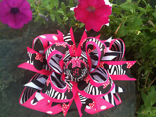 MINNIE MOUSE HOT PINK ZEBRA PERSONALIZED INITIAL OF YOUR CHOICE