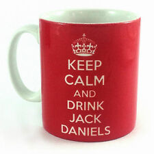 NEW KEEP CALM AND DRINK JACK DANIELS GIFT MUG CUP CARRY ON WHISKY RETRO PRESENT