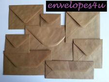 Brown Ribbed Kraft Envelopes for Greeting Cards - FREE P&P UK- Premium 100gsm