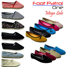 New Ladies Comfy Espadrille Ballet Pumps Women Shoes Girl Dolly Flat Size UK 3-8