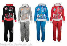NEW  GIRLS KIDS DELUXE PROJECT FULL TRACKSUIT HOODY AND BOTTOMS AGES 7 - 13