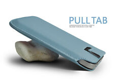 Turquoise Pull Tab PU Leather Case Cover Pouch Slide In Sleeve