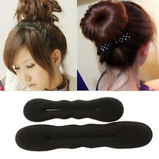 Fashion Lady Girl Foam Style Magic Bun Hair Styling Maker Tool Clip Twist 2 Size