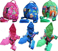Baby/Kid/Toddler Safety Safe Security Harness Backpack Strap Rein Belt Leash Bag