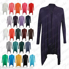 NEW WOMENS LADIES VISCOSE ITALIAN MADE WATERFALL OPEN CARDIGAN ONE SIZE