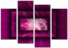 CANVAS WALL ART LARGE QUALITY ABSTRACT PRINTS CONTEMPORARY DIGITAL AVA 3 PLUM