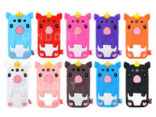 NEW 3D Cute Princess Crown Pig Silicone Case Cover For Samsung Galaxy S3 I9300