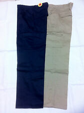 New Mens Workwear Trousers Cargo Heavy Duty Work Pants Kahki & Nav(Size 30 - 44)