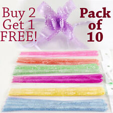 Pack of 10 FRILLED EDGE Butterfly Pull Bow Quick Ribbons! Buy 2 Get 1 FREE!