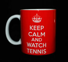 NEW KEEP CALM AND WATCH TENNIS GIFT MUG CUP CARRY ON BRITANNIA RETRO PRESENT FUN