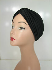 Pick 1, Superior Quality Stretchable Turban Hat Black White Brown Navy Gray KT16