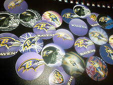 Pre Cut NFL Baltimore Ravens One Inch Bottle Cap Images!