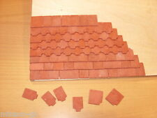 1/12th  Dolls House Roof Shaped Tiles - Packet -250 + 20 Edge Tiles Free