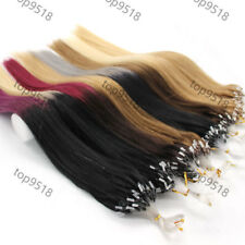"18""20""22""100s Loop/Micro Ring 100% Real Remy Human Hair Extensions 11 Colors New"