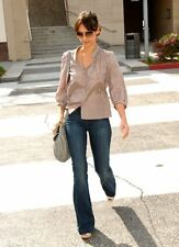$198 Celeb Fave Seven 7 For All Mankind Mid-Rise Trousers Flare Jeans 24 25 00 0