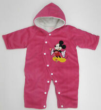 Mickey Mouse Baby Snow Suit boys girls velour new 3 - 6 months Disney