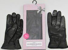 Leather Gloves Ladies Black  boxed small medium large quality new