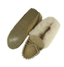 Women's Luxury Full Pure Sheepskin Moccasins with Hard Sole made in the UK