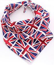 Union Jack British Olympics Puppy Dog Bandana/Collar 100% Cotton&Made in UK