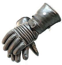 Motorcycle Leather Winter Gloves Close Out Cow Hide Heavy Duty Lined w/ Pockets