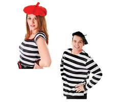 BLACK AND RED #FRENCH BERET ADULT NATIONAL DRESS HAT FANCY DRESS ACCESSORY
