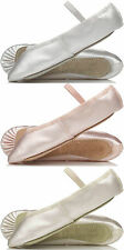 NEW Satin Bridesmaids Shoes Child's & Adult's Sizes. Ivory, White & Ballet Pink