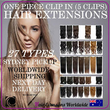 ONE PIECE Clip In Hair Extensions  - Various Colours /Curl Sydney