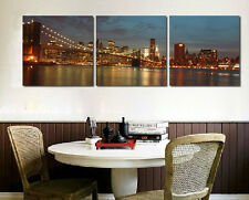 Stunning City skyline view wall Decorative Canvas Print Set High quality Framed