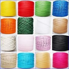 Paper Raffia Ribbon 7mm All Colours Decorating Flowers Gifts Crafts Scrapbooks