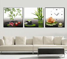 Bamboo lotus Zen Theme Chinese Decorative Canvas Print Set High quality Framed