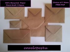 Brown Fleck Kraft Envelopes for Greeting Cards - FREE P&P UK- RECYCLED 110gsm