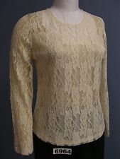 BFA CLASSICS NEW Lined EMBROIDERED Lace TOP!!! Lots of Colors and sizes!  WOW!!