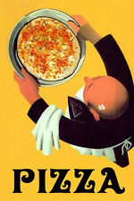 Pizza Restaurant Cheese Food Kitchen Vintage Poster Repro FREE SHIPPING