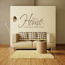 MAY OUR HOME BE WARM WALL ART QUOTE STICKER - BEDROOM LOUNGE FRIENDS DECAL