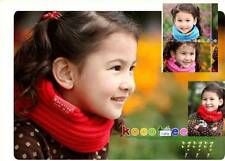 Korean Kids Baby Girl Boy Children Neck Warmer Winter Knitted Scarf Xmas Gift